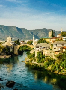 Mostar and the bridge upon two worlds