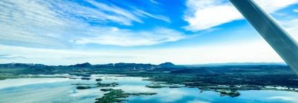 Flying over Iceland