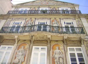 My first impressions of Lisbon, facade