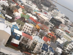 Global view of Reykjavik