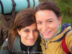 With my friend Laura on the day we got lost on Moen Island, Danmark 2005