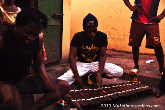Xilophone is one of Guinean traditional music instrument