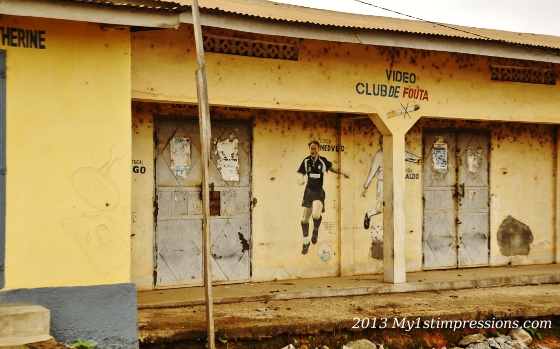 Football is everywhere in Africa