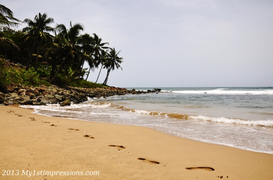 Sandy beaches of Ghana