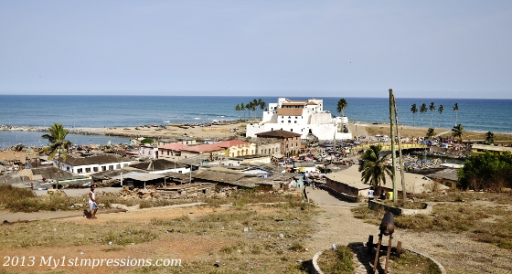 Elmina castle and its gorgeous location on the ocean