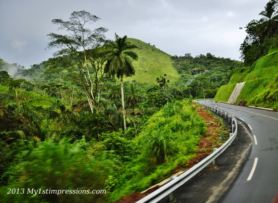 On the green roads of Cameroun: unique view!