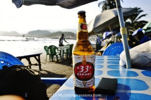 Cold beer on Limbe' beach