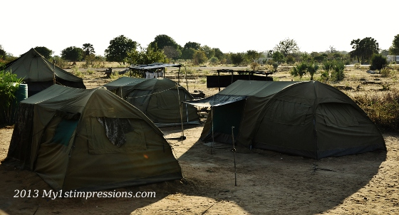 The army camp where we camped on the last night in Angola