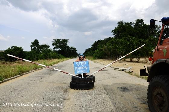 The border beetween Gabon and Congo
