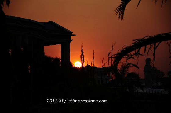 Sunset on Brazzaville