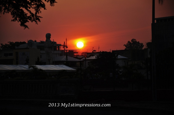 The unforgettable sunset seen in Brazzaville