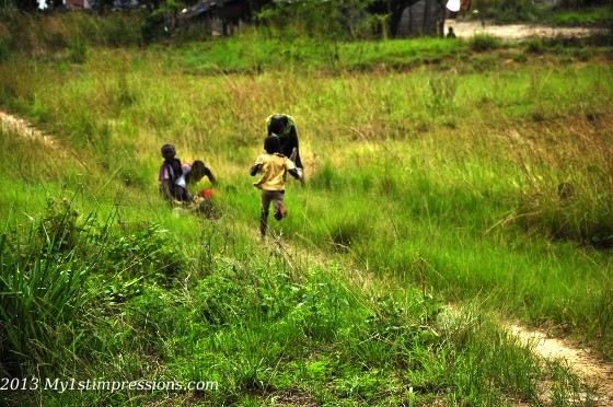 Kids running away when they saw my camera