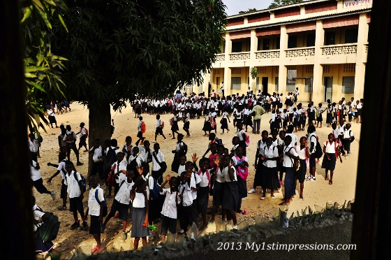 The thousands kids of the Catholica school next to where we camped: a true nightmare