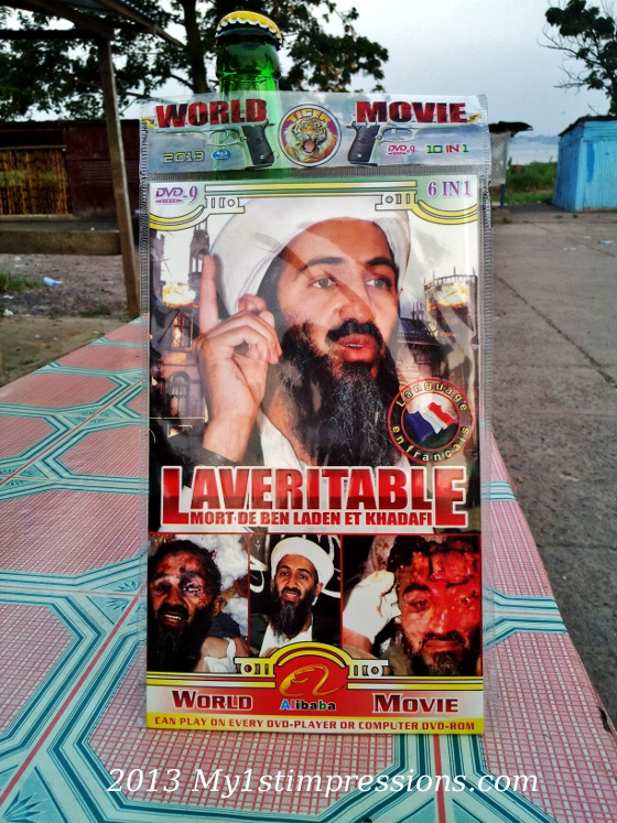 DVD about Bin Laden's or Geddafi's death were sold in the streets of Brazzaville