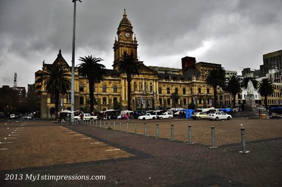 From the balcony of Cape Town townhall Nelson Mandela had his 1st speech after he was released