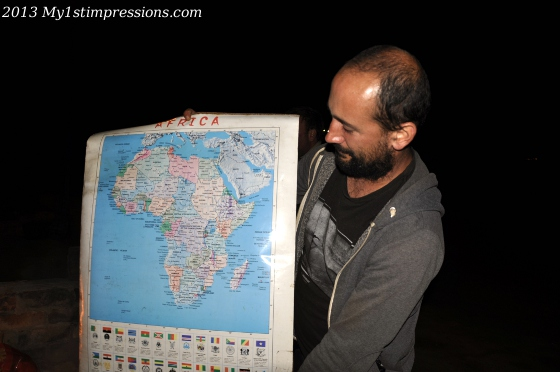 Jo and his Africa map