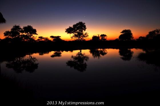 Stunning Sunset in Etosha