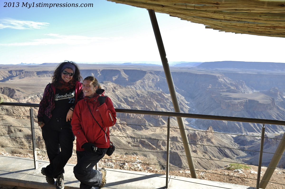 With Ananbegga, at the Fish River Canyon, after the malaria adventure