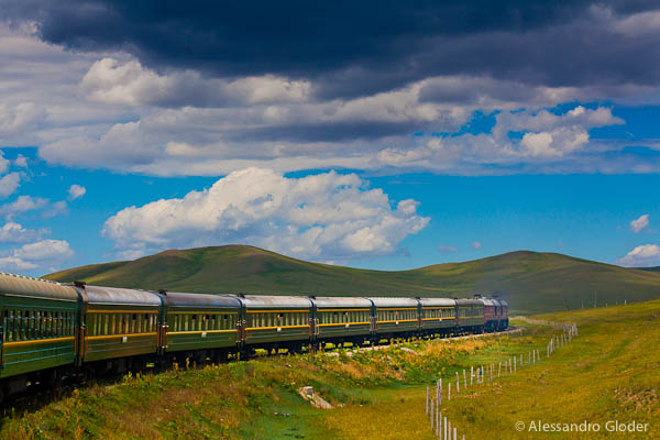 Mongolia: wonderful landscapes went through the windows of the transiberian train, the longest railway in the world