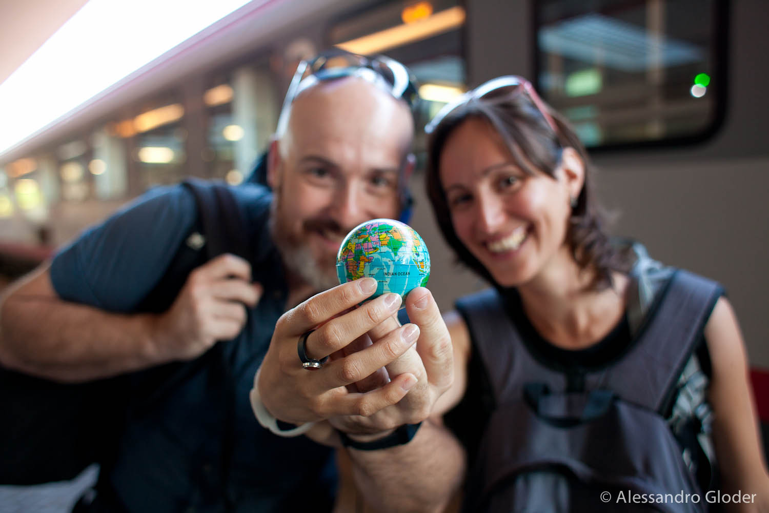 On the day of arrival, in Verona, Elisa  and Alessandro realized they had really made it crossing the world withouth catching any flight