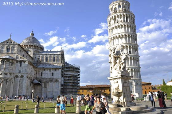 Piazza Dei Miracoli and the pending tower, Pisa,