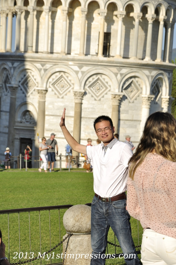 Taking pictures of the tourists in Pisa was almost more funny than the rest