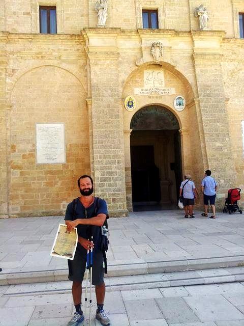 Antonio's arrival at Santa Maria di Leuca, his last stop
