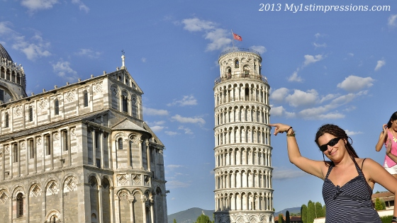 The most typical photo in Pisa