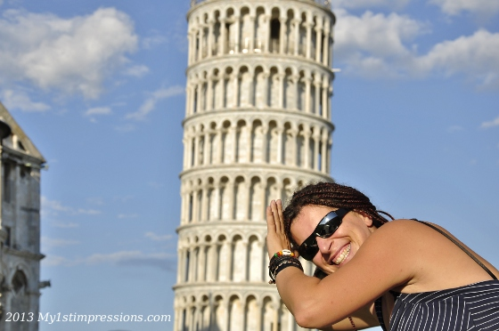 Who has been in  Pisa and doesn't have a photo like this?