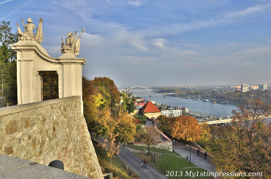 The blue Danube seen rom the Castle