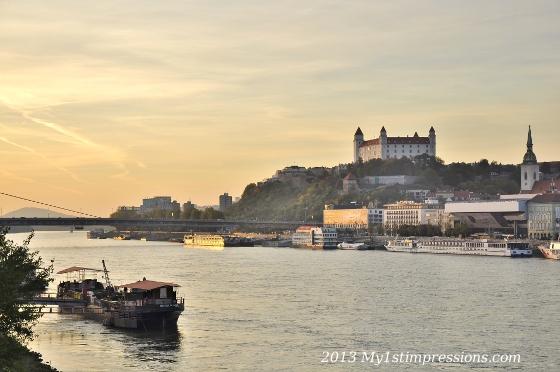The castle on the Danube, symbol of Bratislava