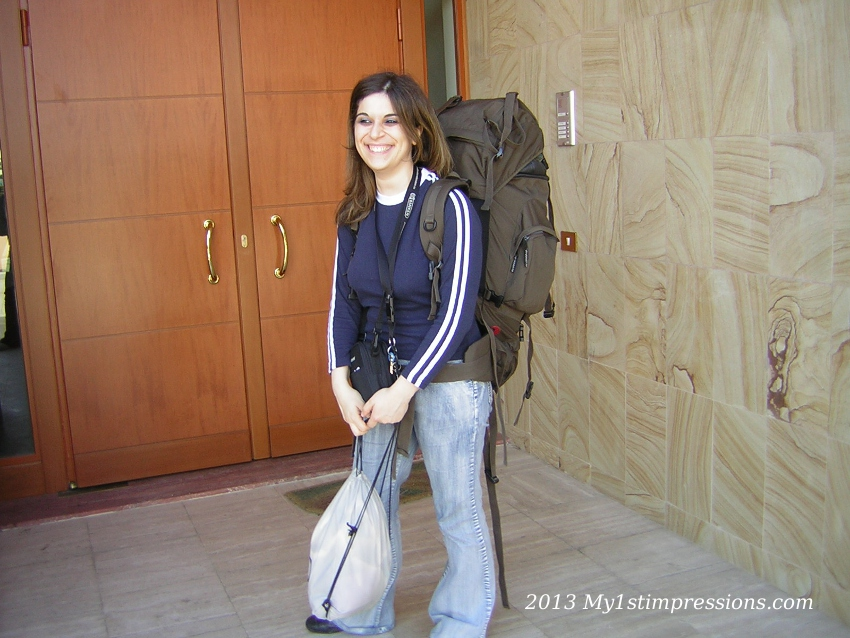 The day I left to go to Sevilla, back in 2004!