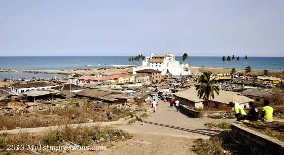 Elmina slave fort in paradise