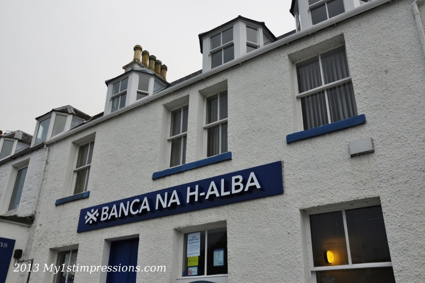 Bank of Scotland in Old Gaelic