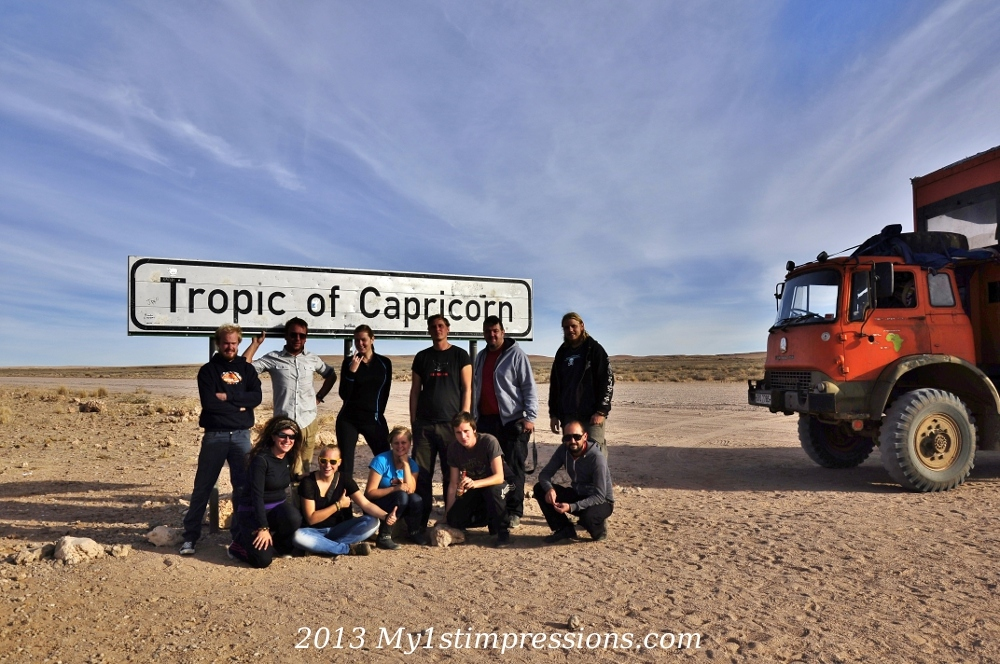 At the Tropic of Capricorn, in Namibia