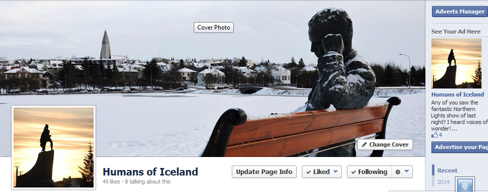 Humans of Iceland, like the page and spread the voice, my new project is finally live!