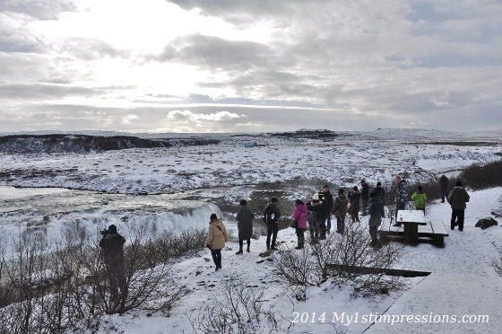 Faxis waterfall, on the way to Geysir