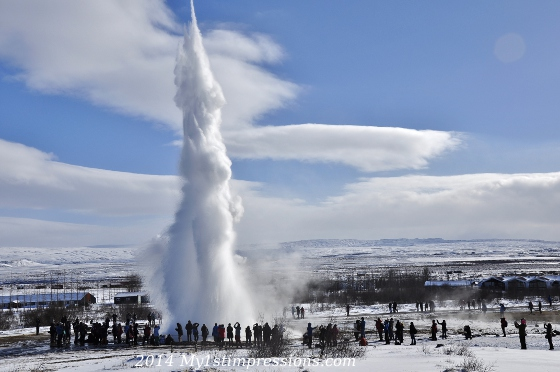 Geysir, the main attraction of the Golden Circle Tour