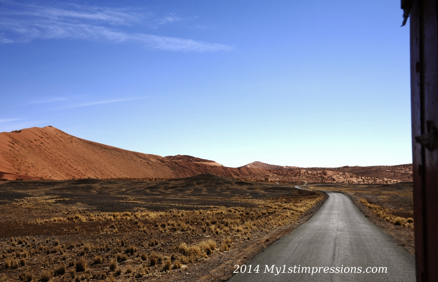 Neverending desert of Namibia