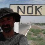 Richard arriving in Nukus, Uzbekistan...reaching civilization