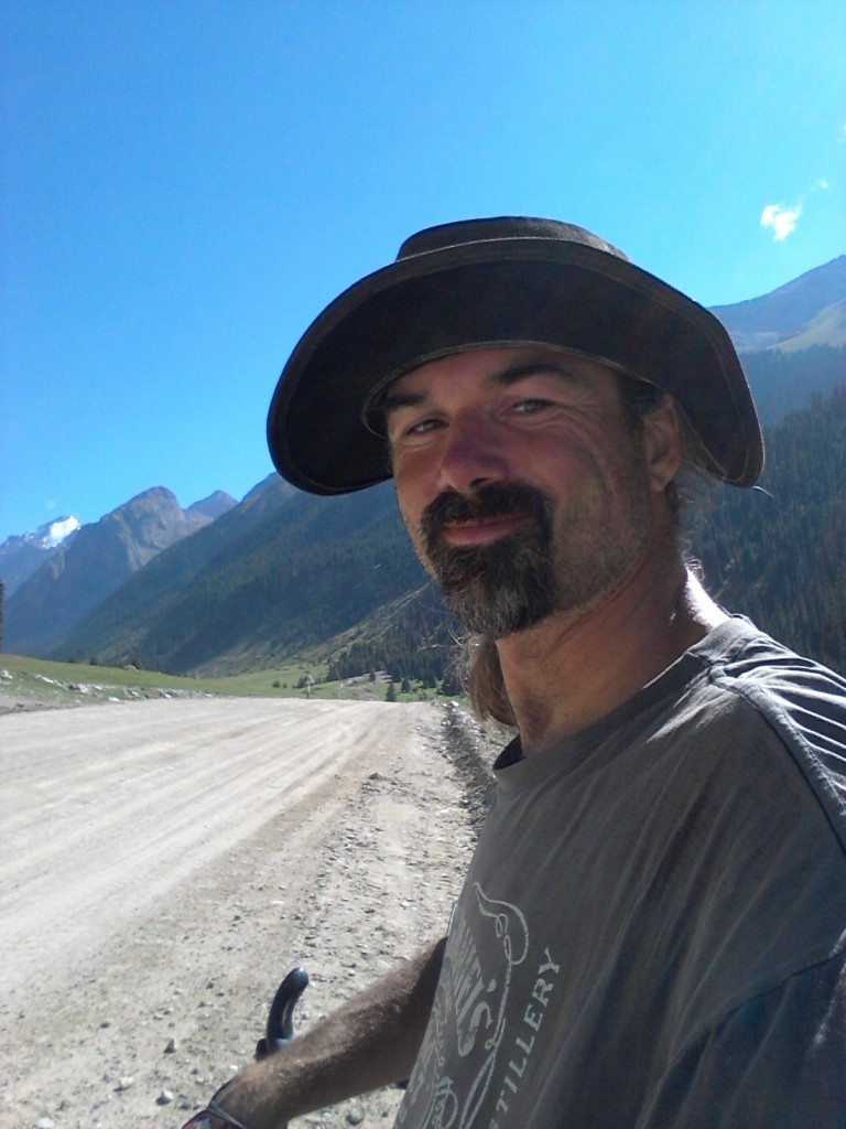 Richard on his solitary way across Kyrgyzstan