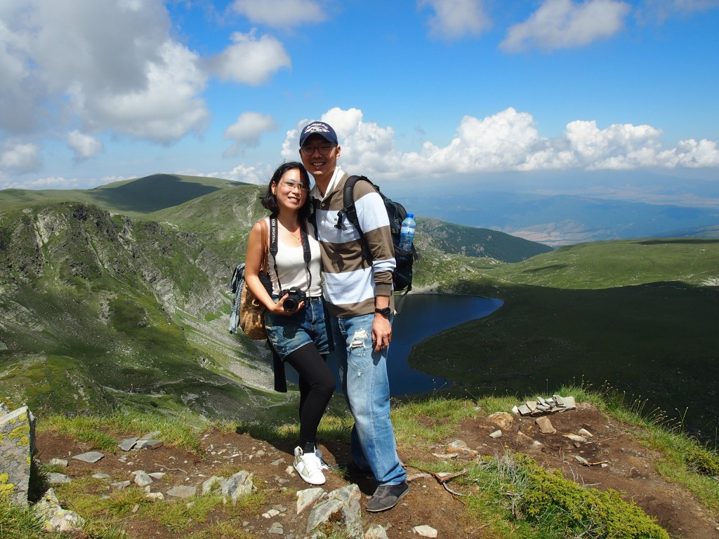 Maggie and Jin on top of the Seven Rila Lakes