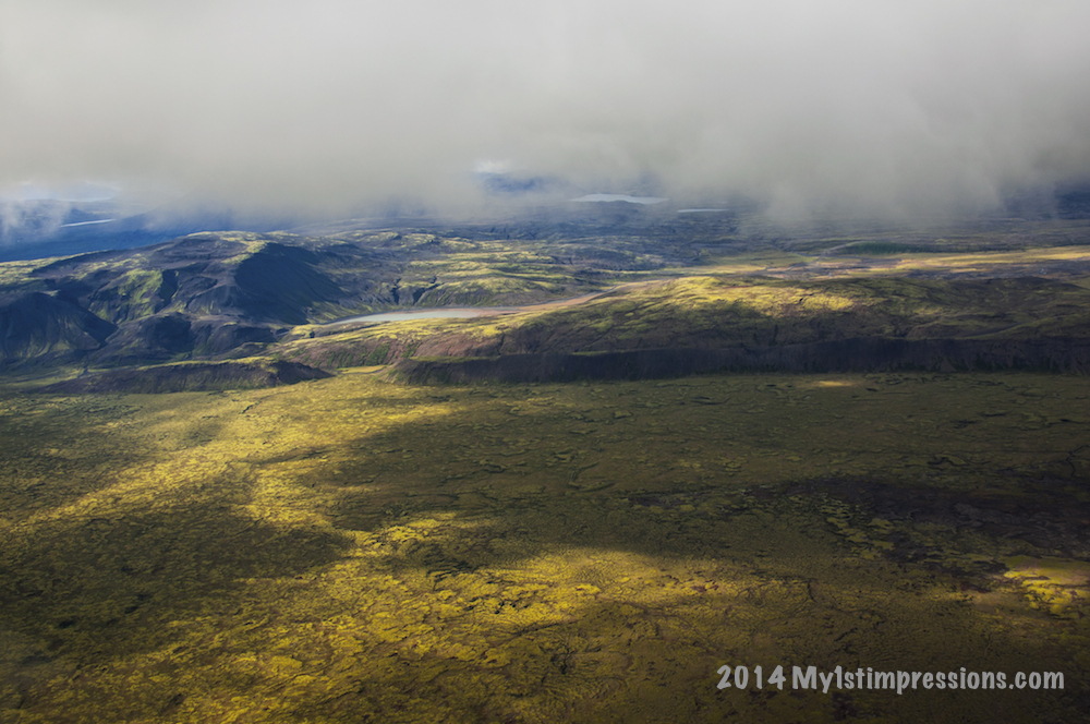 Iceland seen from the sky
