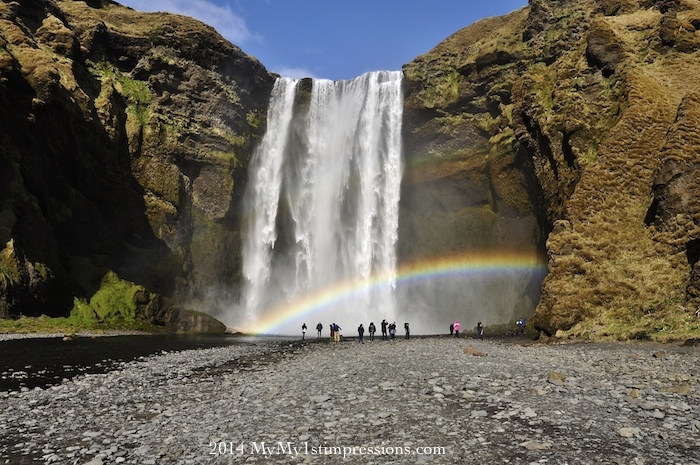 Skogarfoss and Icelandic water