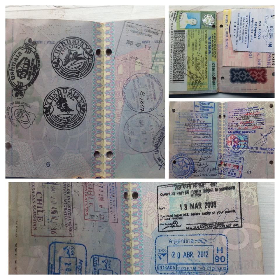 My overfull old passport's pages