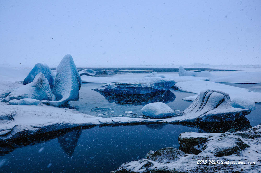 Glacier Lagoon on a winter day