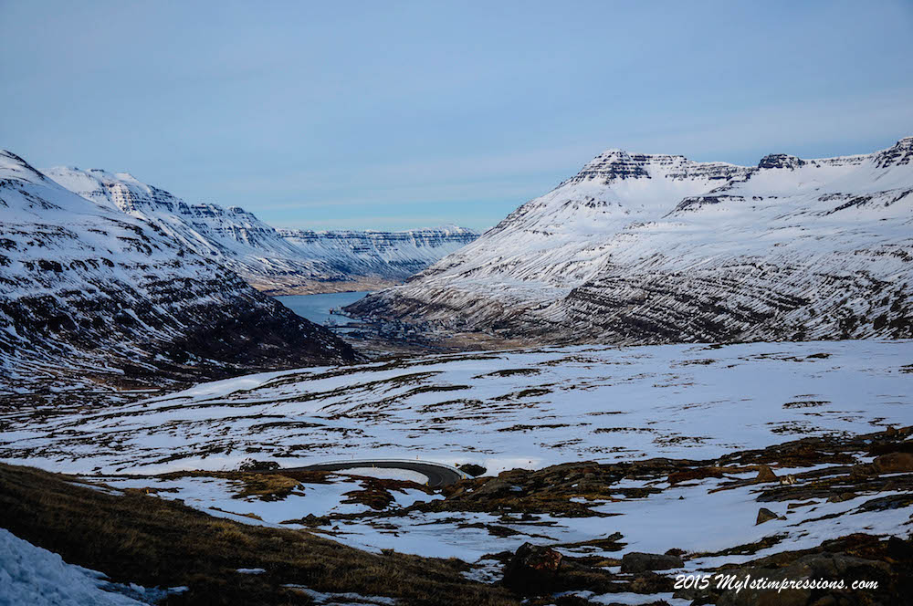 Seydisfjordur, down the valley, where we sleep tonight.