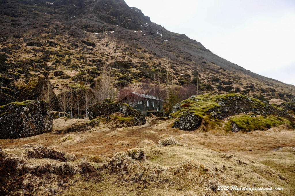 The most famous house of Iceland, under a mountain, among rocks and trolls
