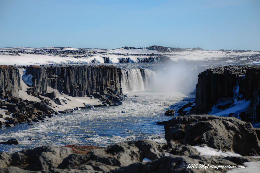 The second waterfall at Dettifoss