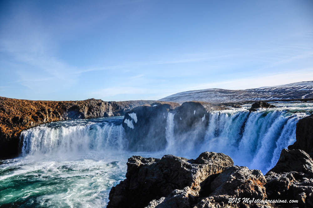 Godafoss, the gods' waterfall, near Myvatn
